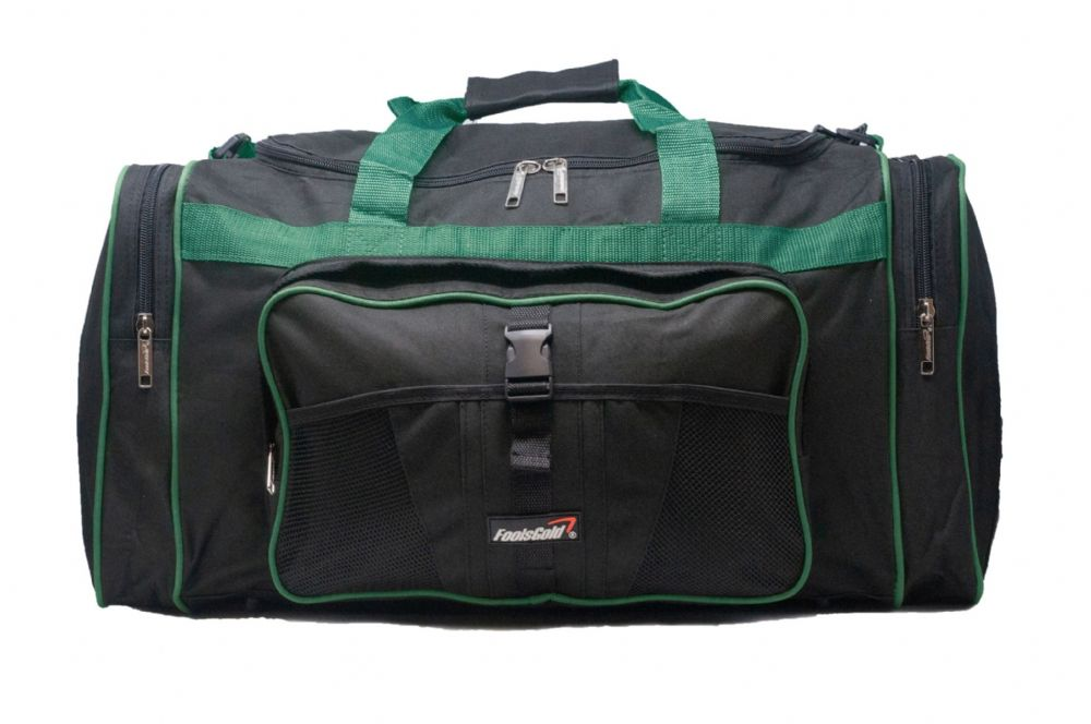 Large 50L foolsGold® Sports Holdall Bag - Black/Teal
